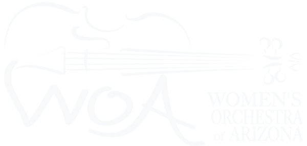 Image of WOA Women's Orchestra of Arizona's logo.