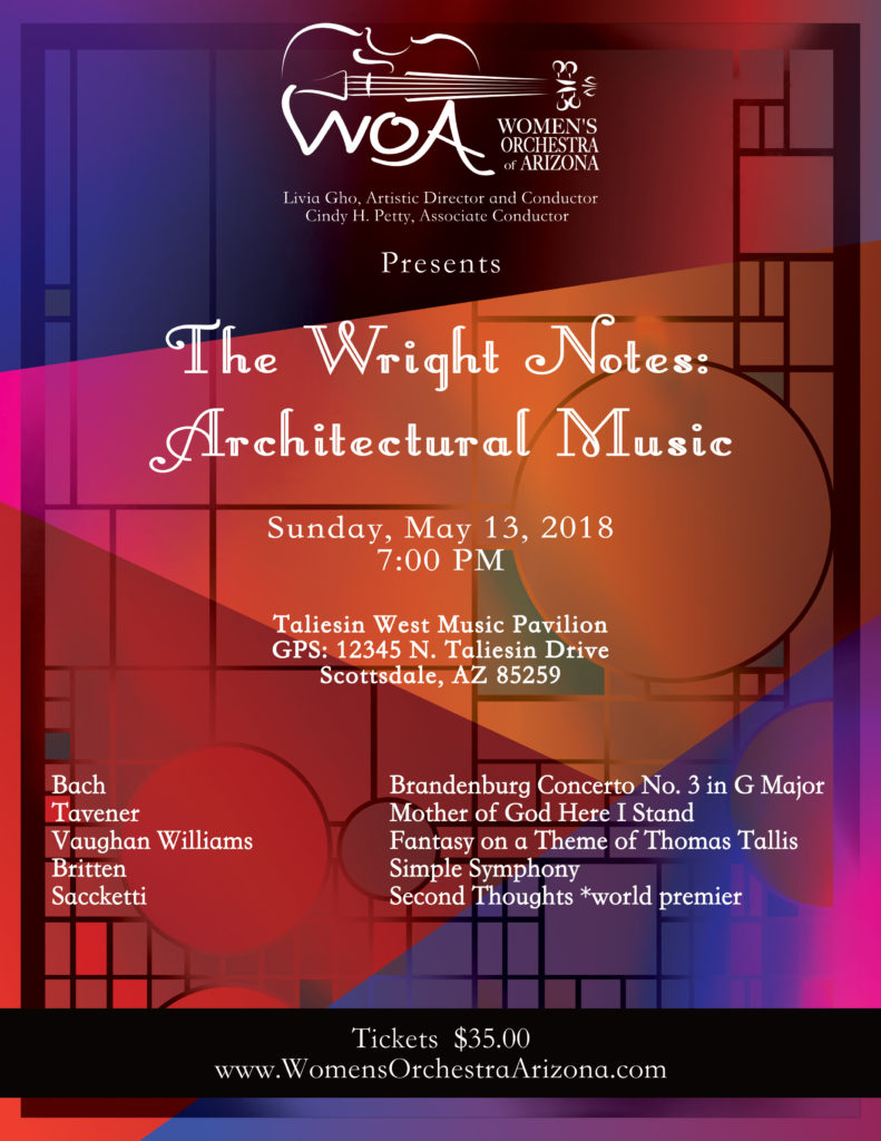 Wright Notes: Architectural Music. The concert poster.