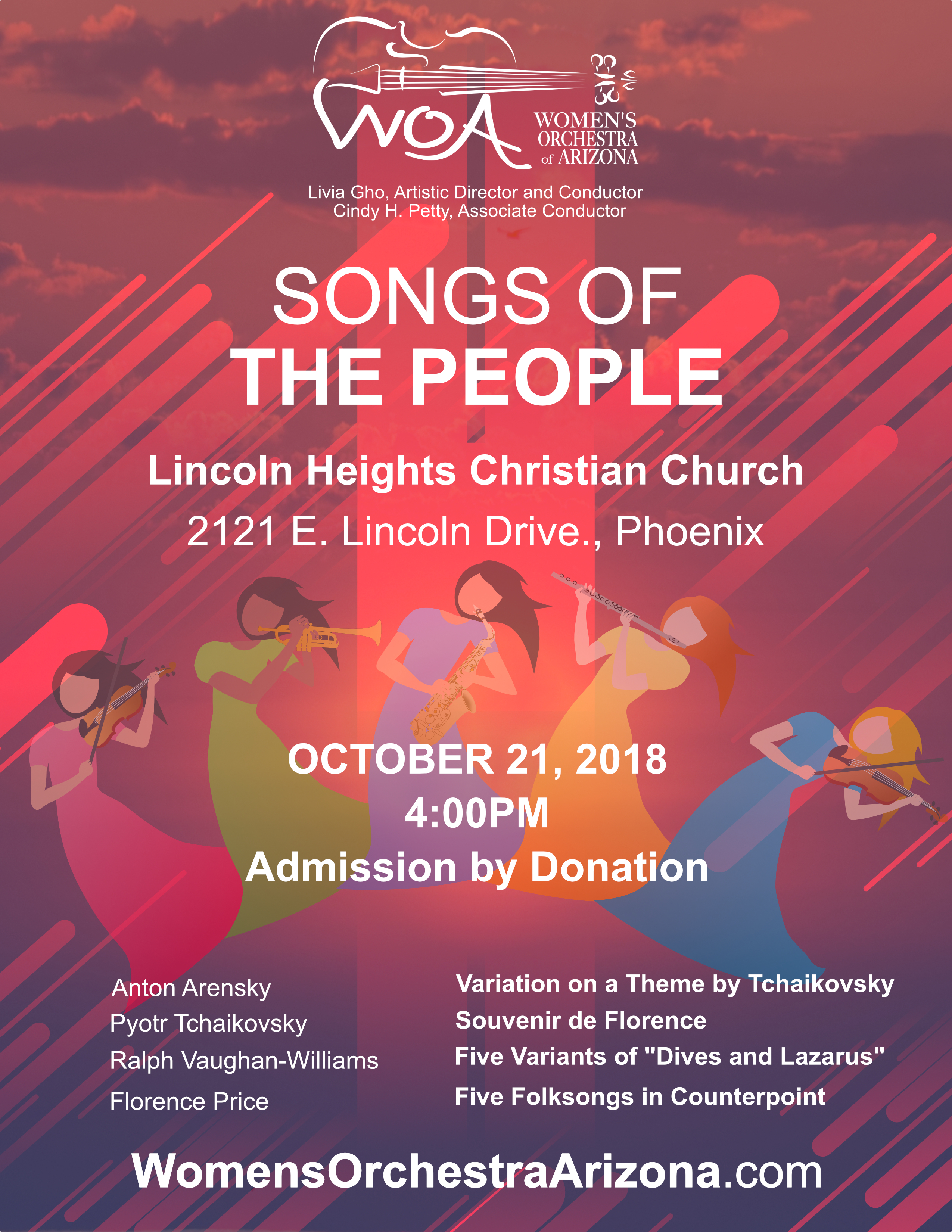 "Photo of Women's Orchestra of Arizona October 2018 Concert - ""Songs of the People"""