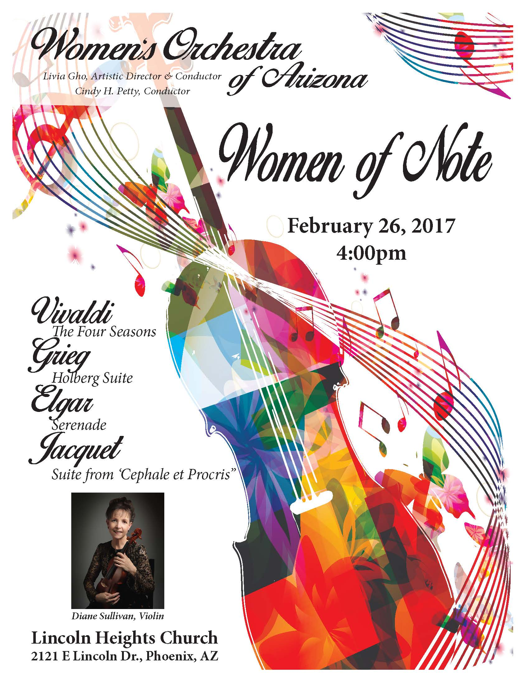 Concert: Women of Note, February 26, 2017